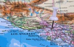 Pin no mapa Imagem de Stock