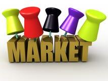 Pin o mercado Imagens de Stock Royalty Free