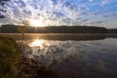 Pin Oak Lake in Natchez Trace State Park royalty-vrije stock fotografie