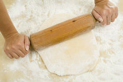 Pin out the dough Royalty Free Stock Photos