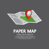 Pin On Paper Map Lizenzfreies Stockfoto