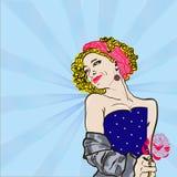 Pin-Para arriba de la muchacha Imagen de archivo