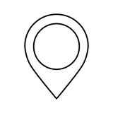 pin pointer location icon Royalty Free Stock Images
