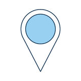Pin pointer location icon Stock Photography