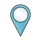 Pin pointer location icon Royalty Free Stock Image