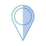 Pin pointer location icon Stock Images