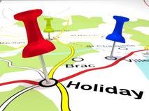 Pin Points auf einer Karte stockbild