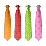 Pin, polka dots silk ties template Royalty Free Stock Photography