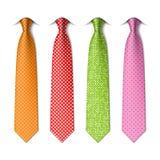 Pin, polka dots silk ties template Royalty Free Stock Photography