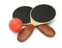 Pin-pong equipment Stock Images