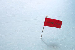 Pin with red Entrepreneur flag Stock Images