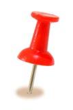 Pin rouge de poussée Images libres de droits