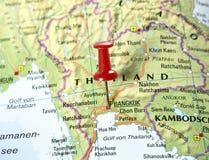 Pin set on Bangkok. royalty free stock image