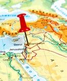 Pin set on Damascus Royalty Free Stock Images