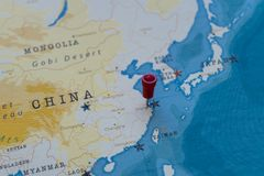 Shanghai on map stock photo. Image of china, continent - 114067620
