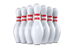 Pin of skittles, for bowling. Royalty Free Stock Image