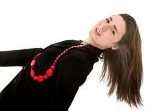 Pin sulla posizione per una donna piacevole immagini stock libere da diritti