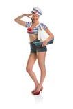 Pin sulla ragazza del marinaio Fotografia Stock Libera da Diritti