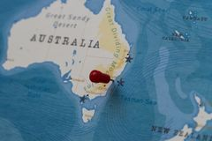 A Pin On Sydney Australia In The World Map Stock Photo Image Of