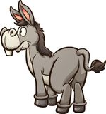 Pin the tail on the donkey. Vector clip art illustration with simple gradients. Donkey and tail on separate layers royalty free illustration