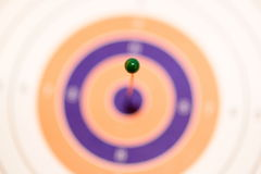 Pin on Target Royalty Free Stock Images