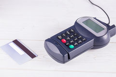 Pin terminal and credit card Stock Photography