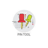 Pin Tool Office Equipment Icon Stockbilder