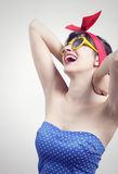Pin up. Smiling pin up girl portrait Stock Images