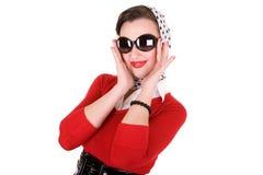 Pin up. Girl retro style 1950s royalty free stock photo