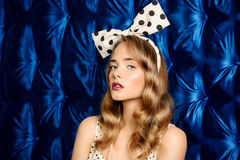 Pin-up bow style Stock Images