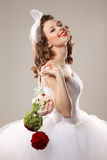 Pin up bride Stock Images