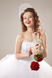 Pin-up bride Stock Images