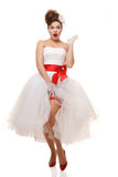 Pin up bride Stock Photography