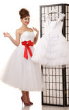 Pin-up bride standing Stock Image