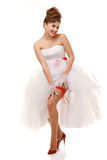 Pin-up bride standing Stock Photography