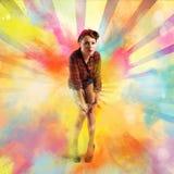 Pin-up colourful burst Stock Photo