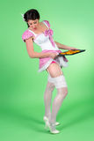 Pin up cookie girl Stock Images