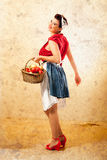 Pin Up Farmer Fotos de archivo libres de regalías