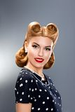 Pin-up Fashion Model in Retro Dress - Glamour Royalty Free Stock Photo