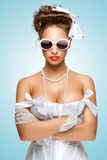 Pin-up gangsta. Royalty Free Stock Image