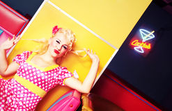 Pin up girl Royalty Free Stock Images