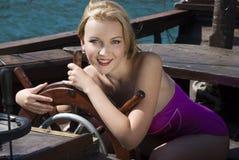 Pin-up girl Royalty Free Stock Photo