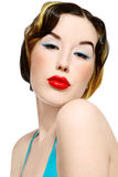 Pin-up girl Royalty Free Stock Images