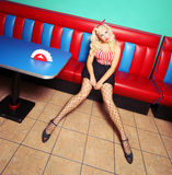 Pin up girl Stock Photo