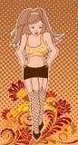 Pin-up girl royalty free illustration