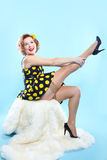 Pin-up-Girl Stockbild