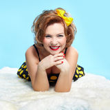 Pin-up girl Stock Images