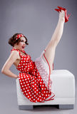 Pin-up girl. Royalty Free Stock Images