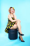 Pin-up girl Royalty Free Stock Image