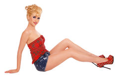 Pin-up-Girl Stockfotografie